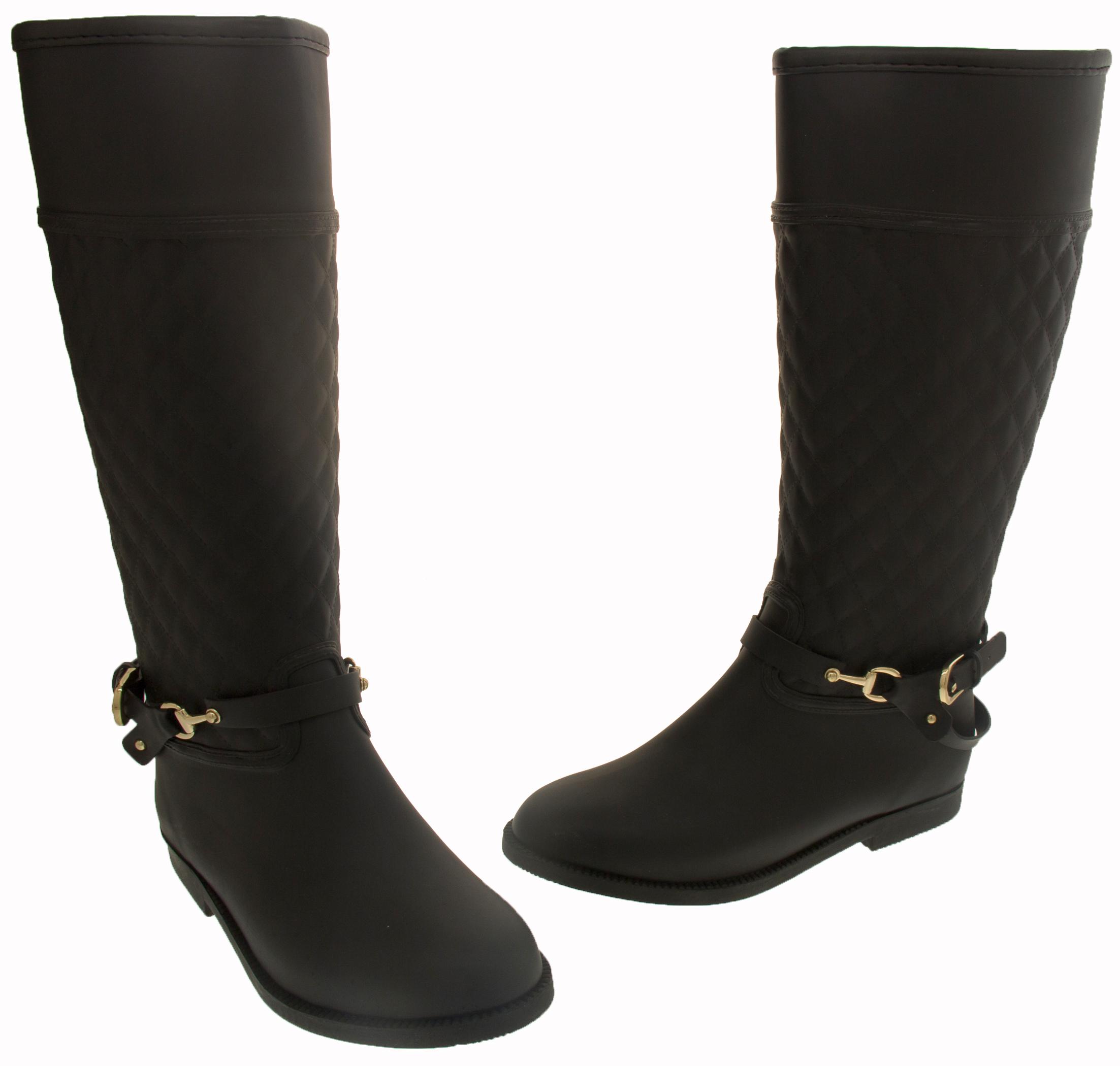 Simple Sunville Womenu0026#39;s Stylish Rain Boots Waterproof - Walmart.com