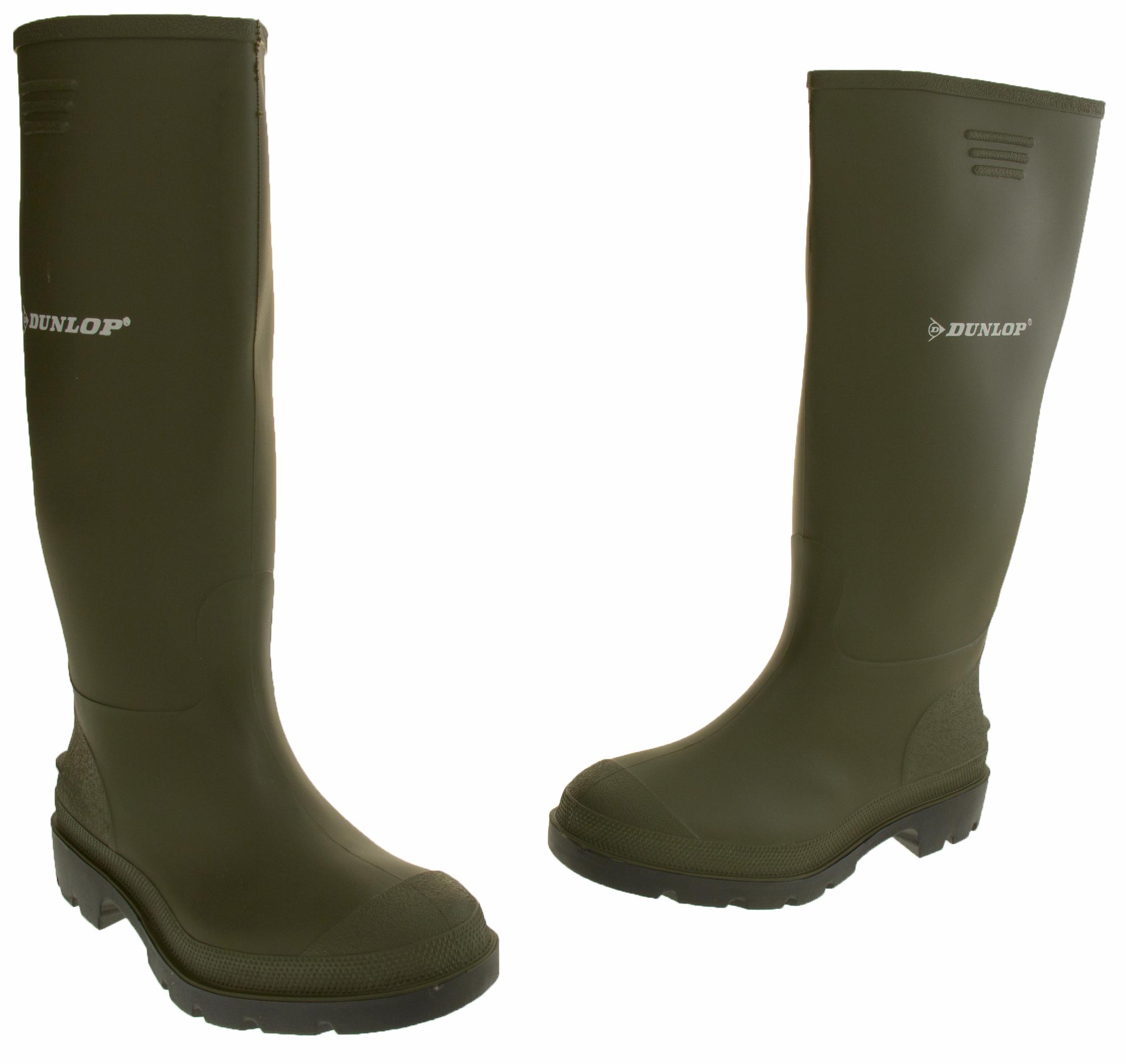 mens dunlop wellington boots waterproof wellies welly boot