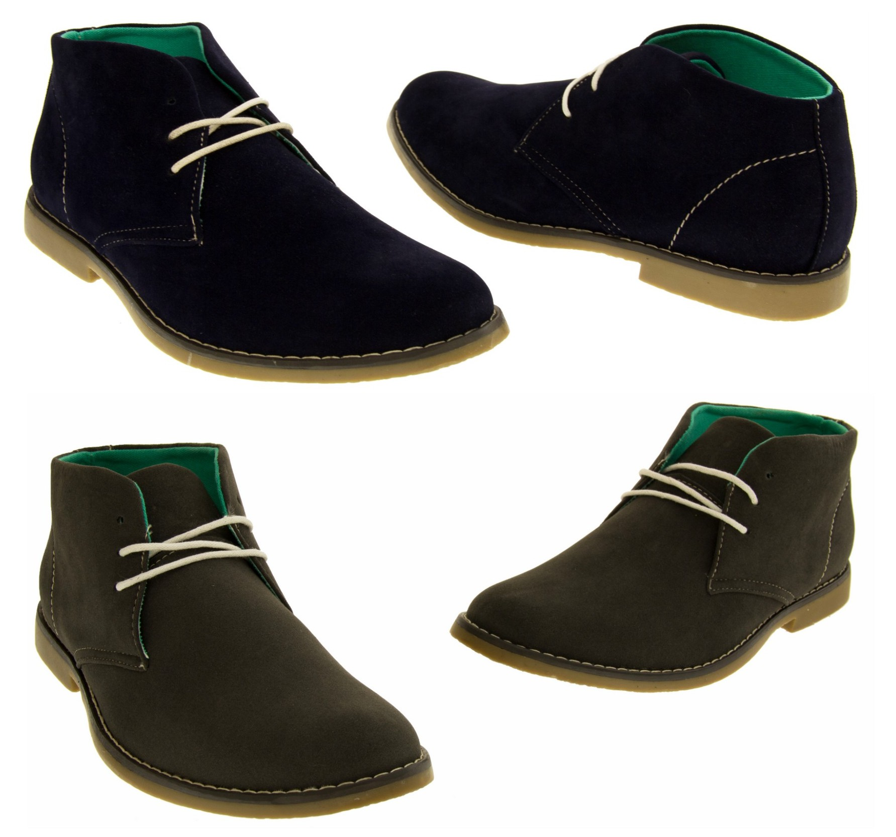 mens classics faux suede desert boots lace up casual boot size 6 7 8 9 10 11 12 ebay. Black Bedroom Furniture Sets. Home Design Ideas