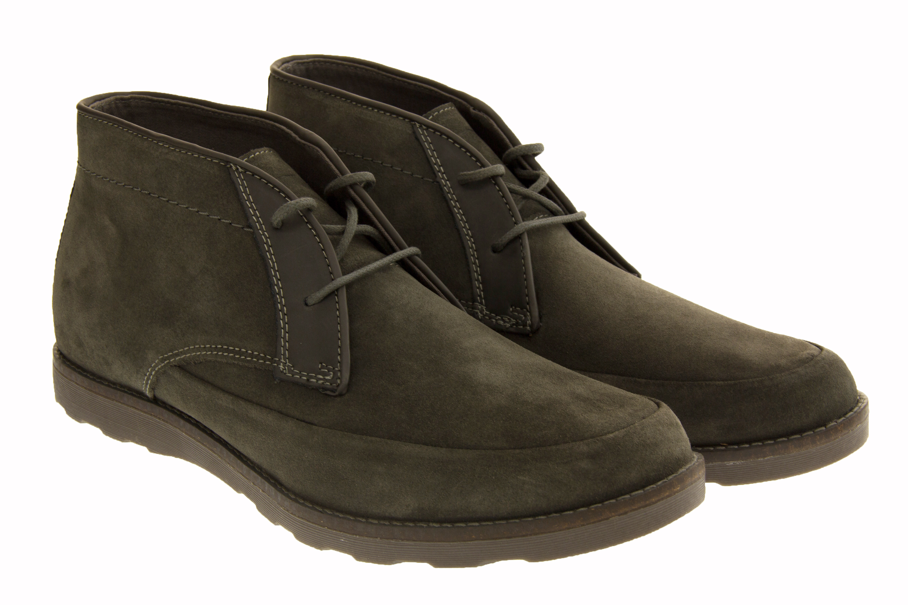 mens skechers real suede boots casual lace up leather