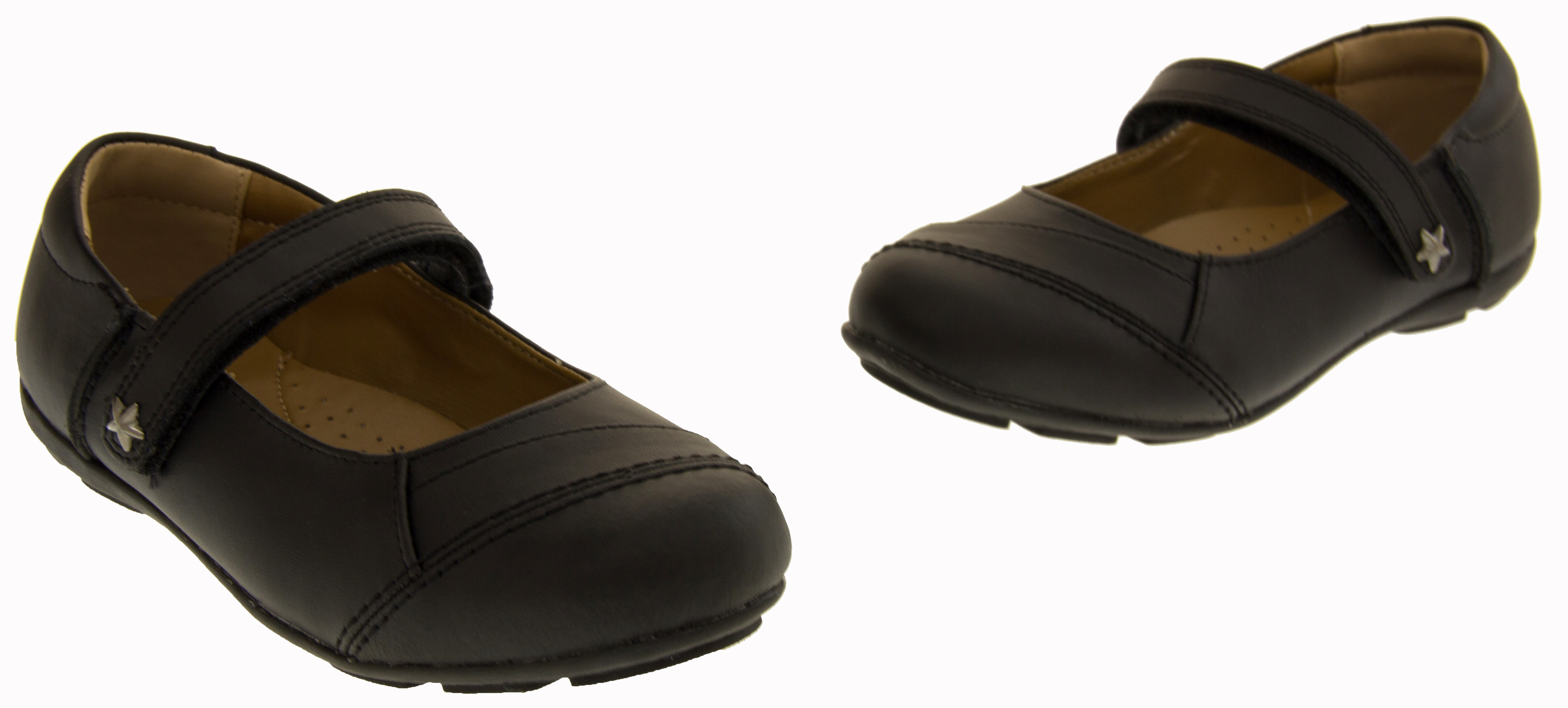 shoes coated leather velcro school