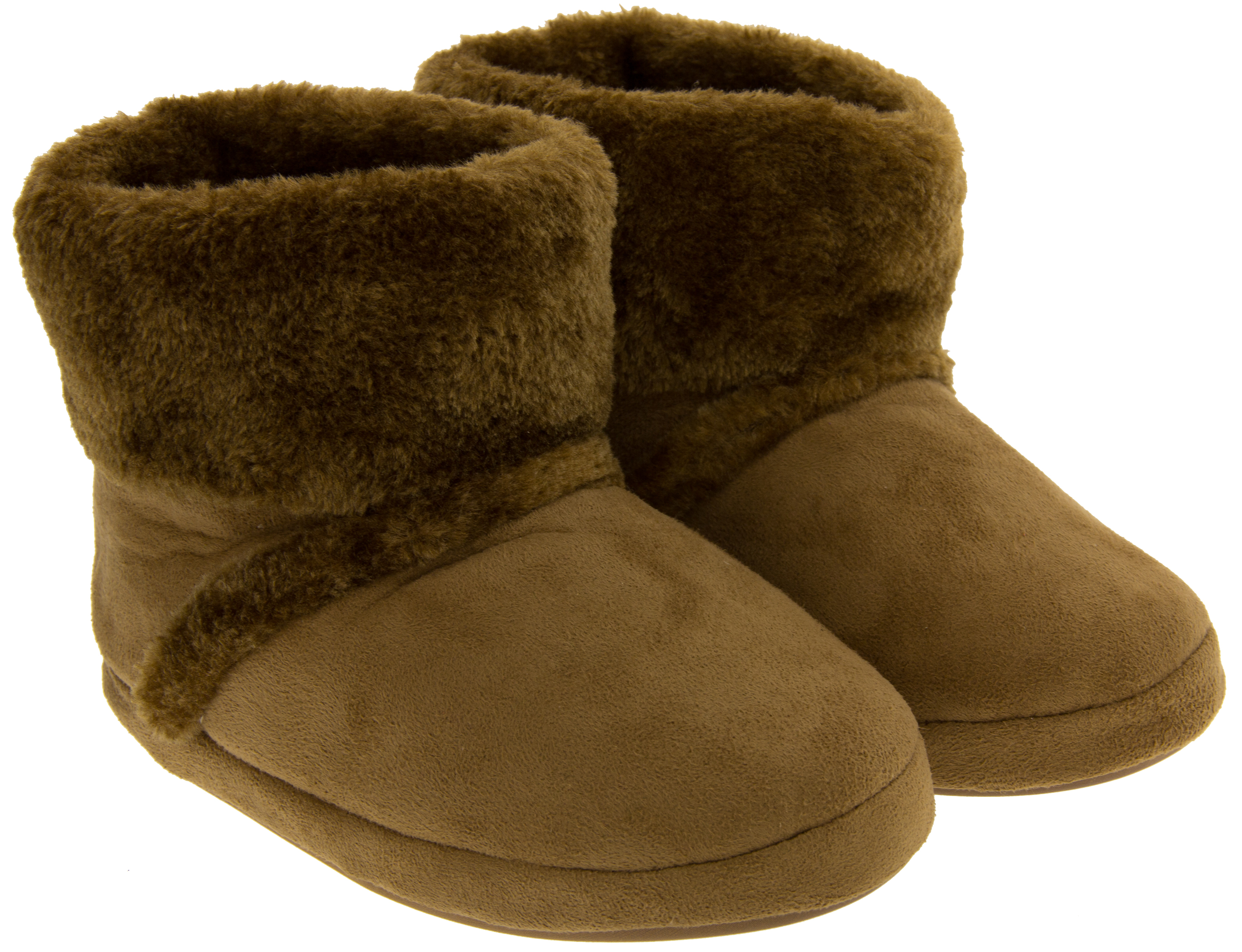 Girls Warm Soft Faux Fur Comfy Winter Slipper Boots Booties Slippers Size 8 - 2