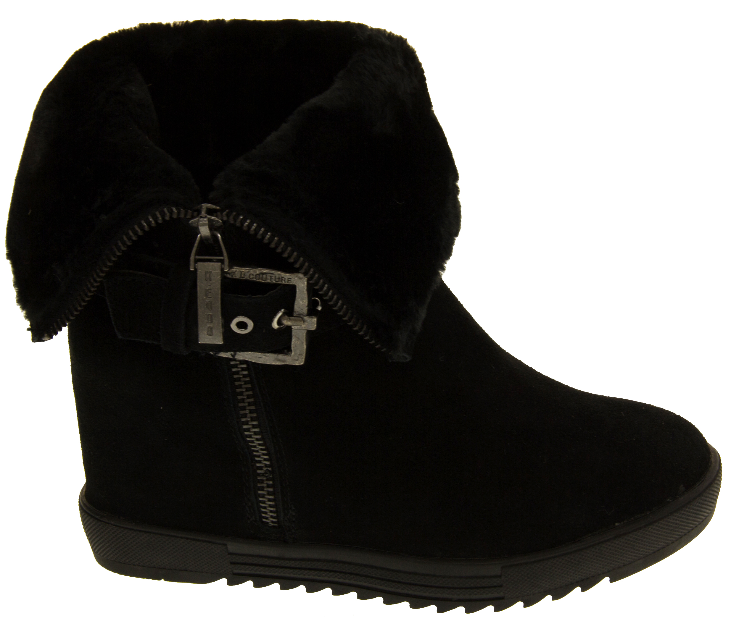 womens keddo wedge ankle boots warm lined
