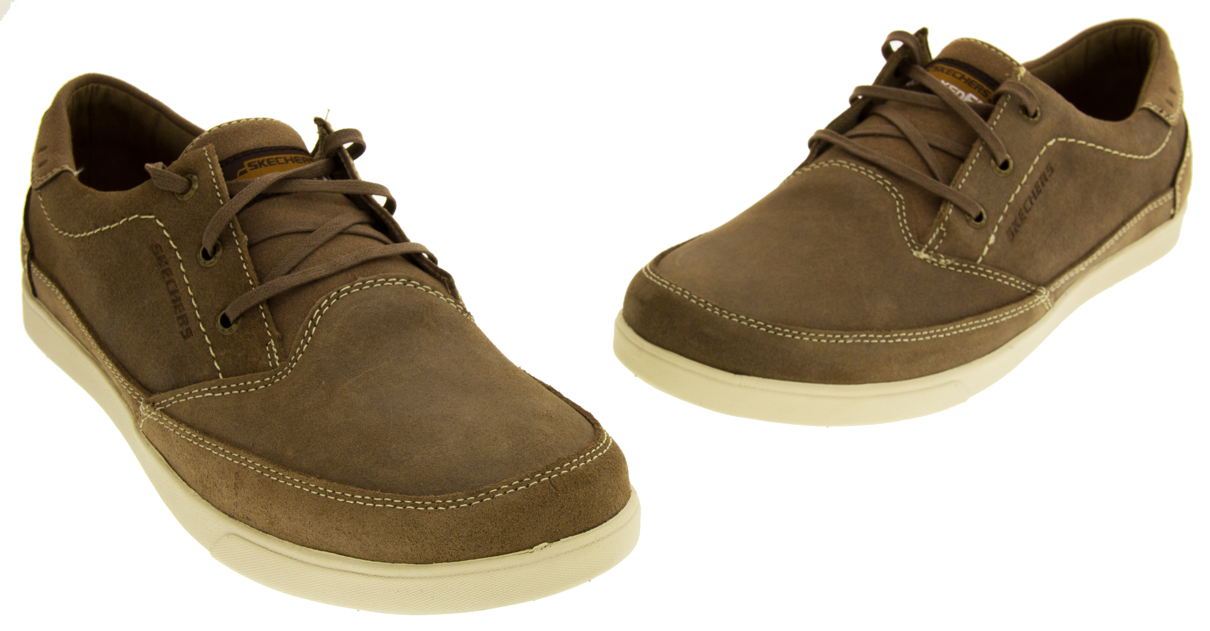 skechers relaxed fit memory foam mens. mens skechers real suede leather casual shoes memory foam relaxed fit trainers ;