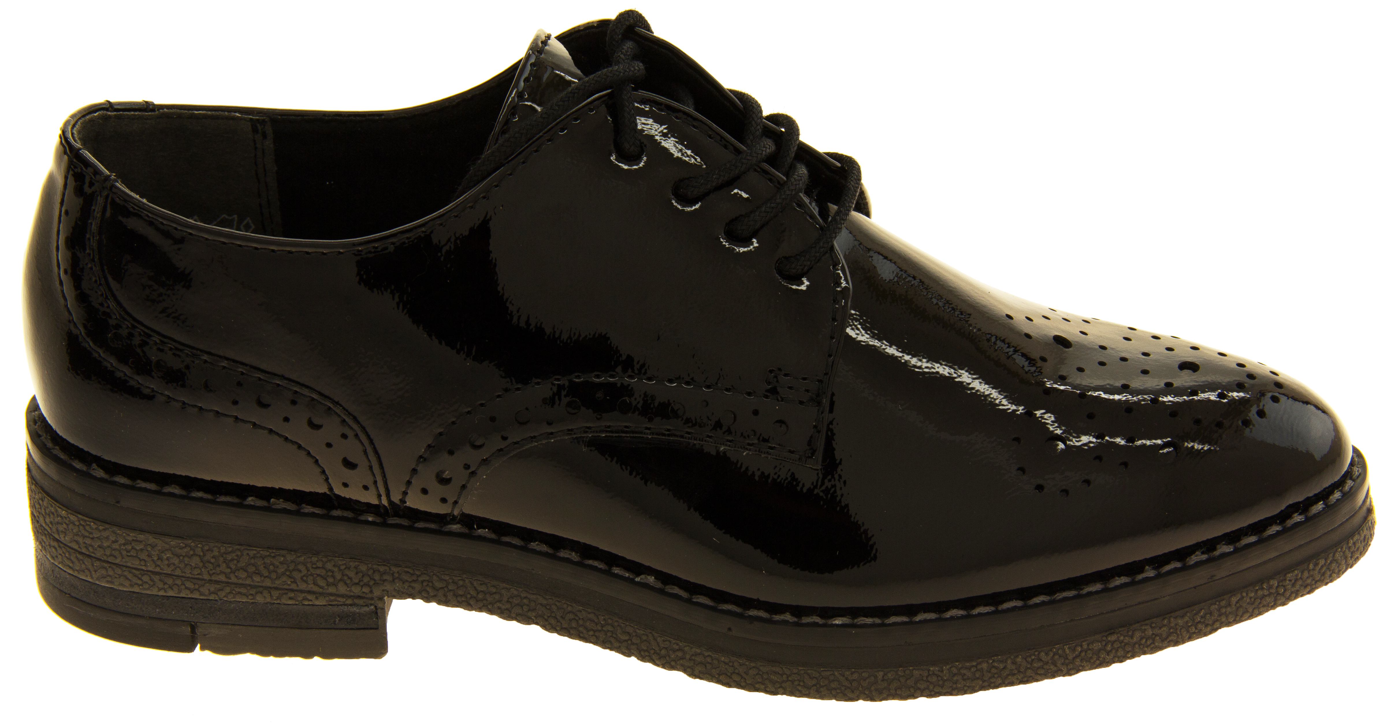 Black Brogues Shoes Womens