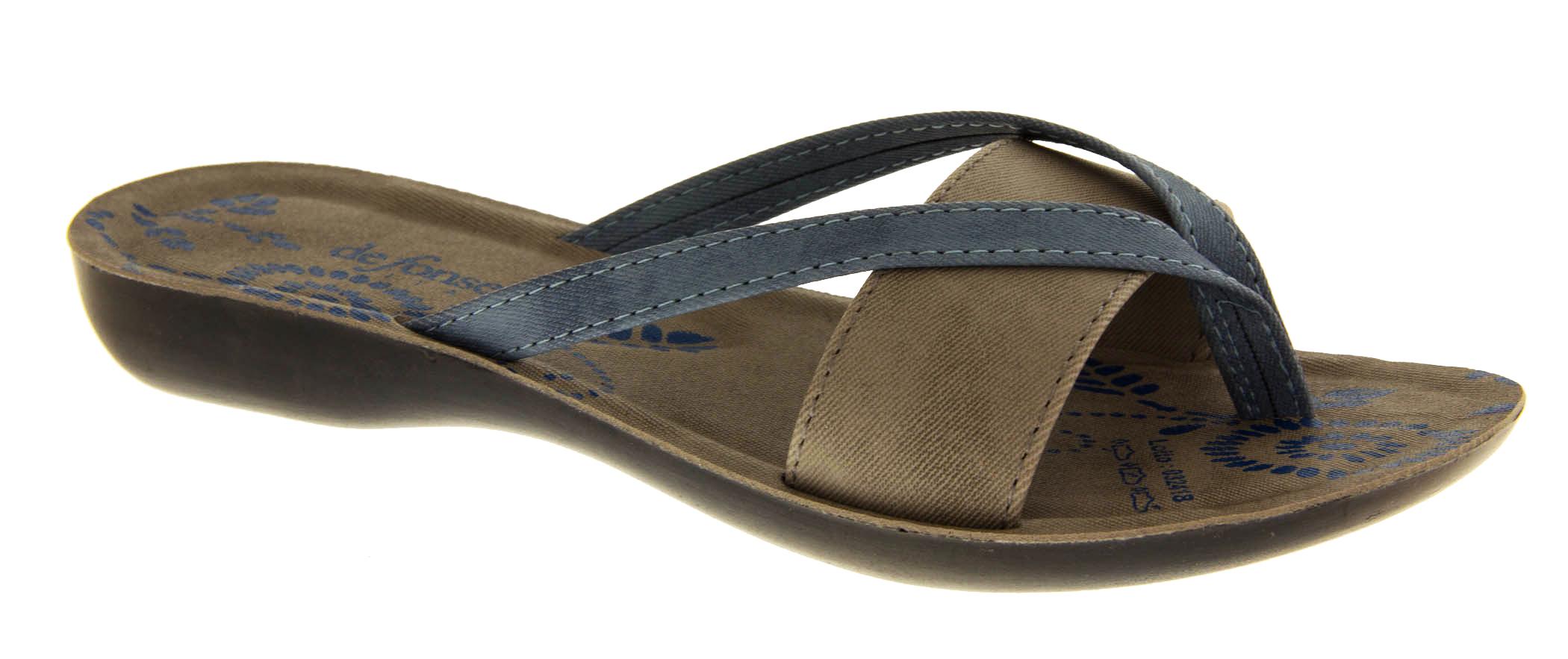 ladies toe post wedge flip flops womens summer mule. Black Bedroom Furniture Sets. Home Design Ideas