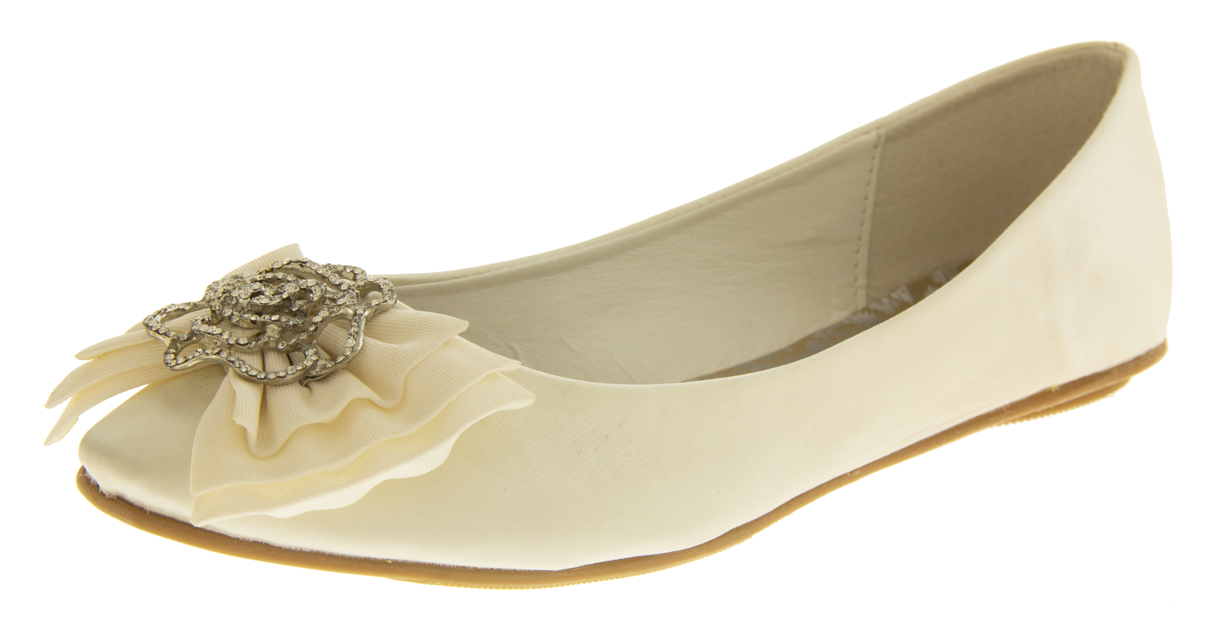 Ladies Ivory Comfy Occasion Shoes