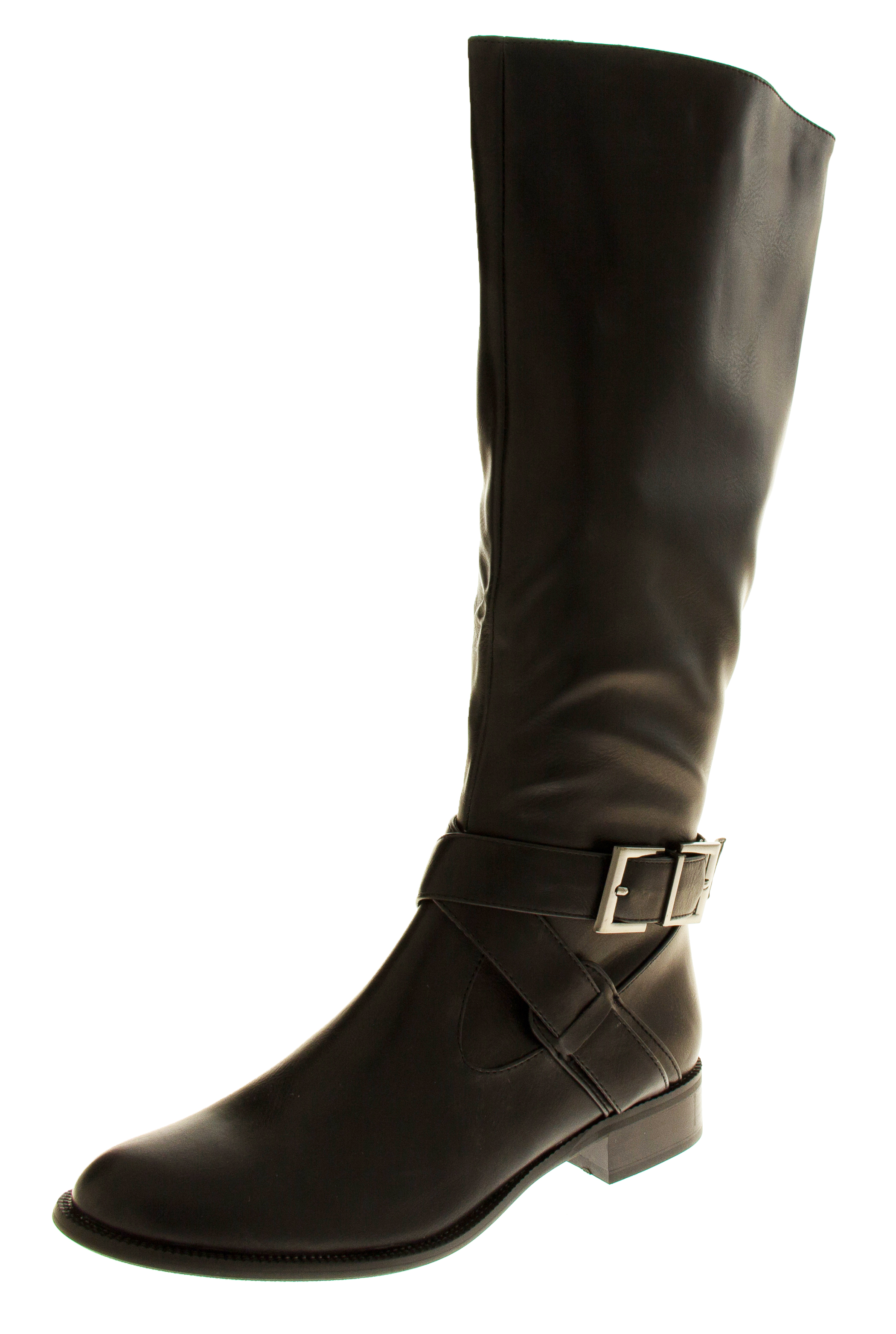 Womens Boots Low Heeled Flat Knee High Work Boot Office