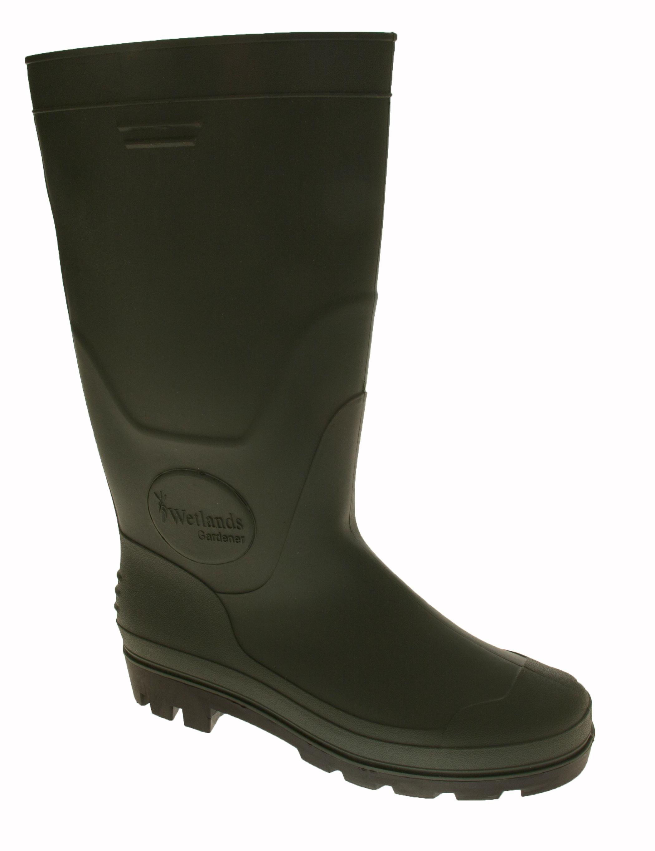 mens wetland gardener wellies waterproof welly boots