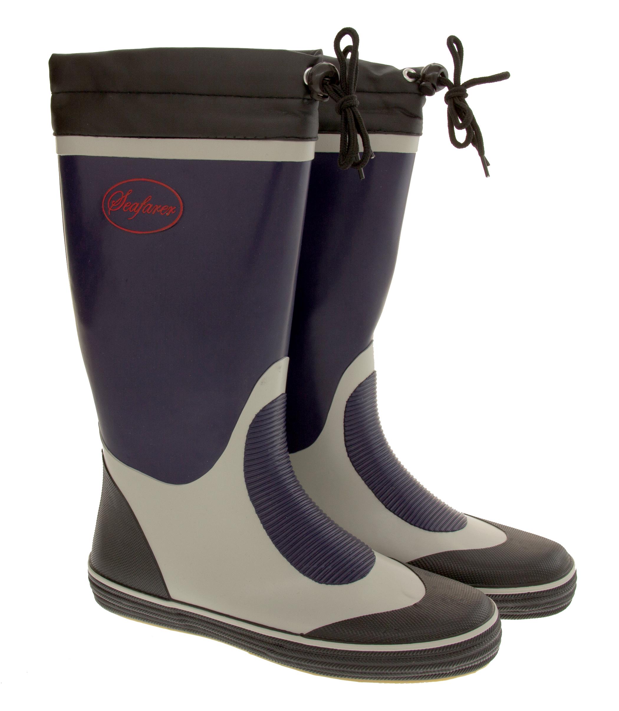 mens seafarer waterproof rubber wellington boot