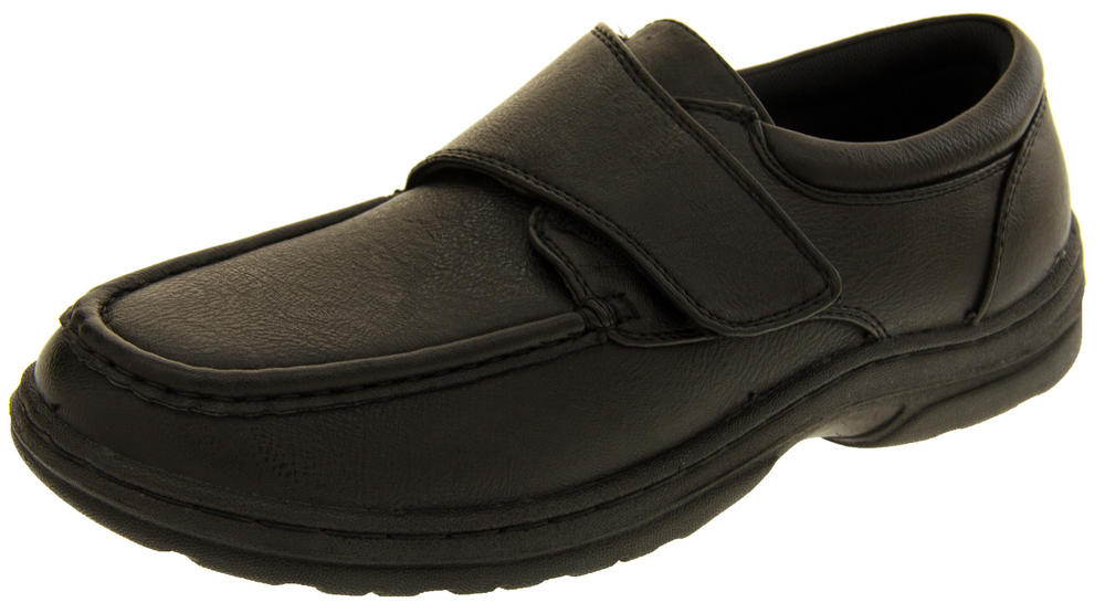 Mens Velcro Formal Faux Leather Shoes