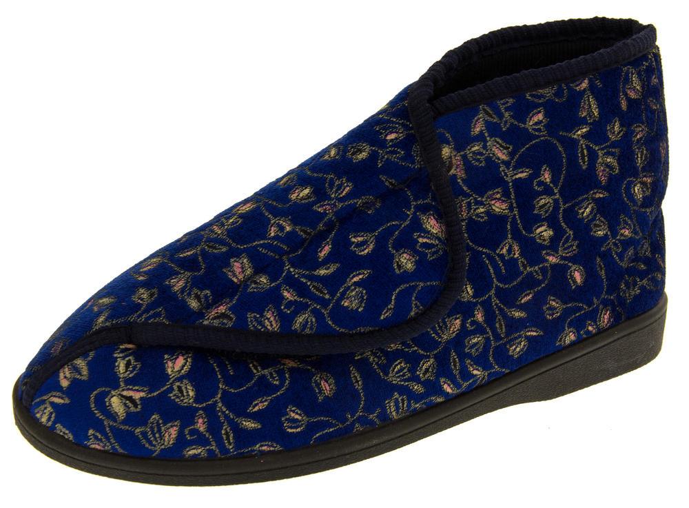Womens Velcro Orthopaedic Slipper Boots