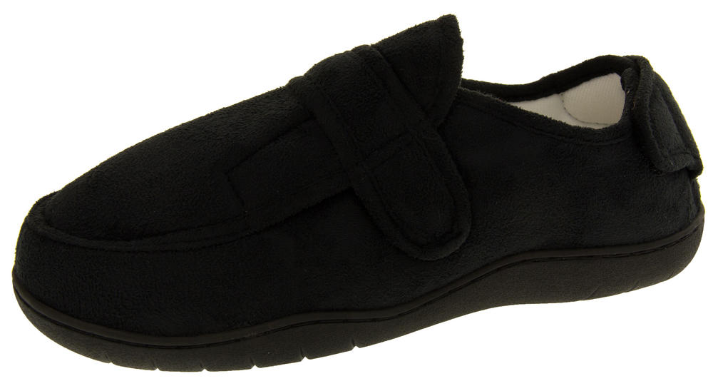Mens Velcro Adjustable Memory Foam Slippers