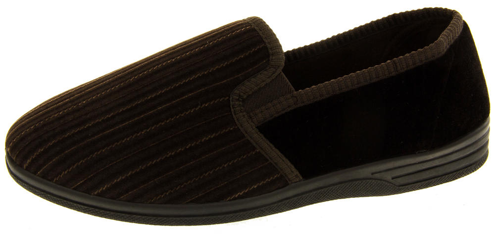 Mens Four Seasons Velour Slippers