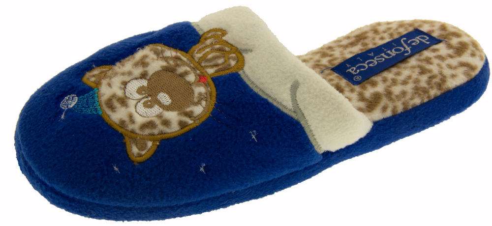 Childrens De Fonseca Miciomiao Cat in Snow Slippers