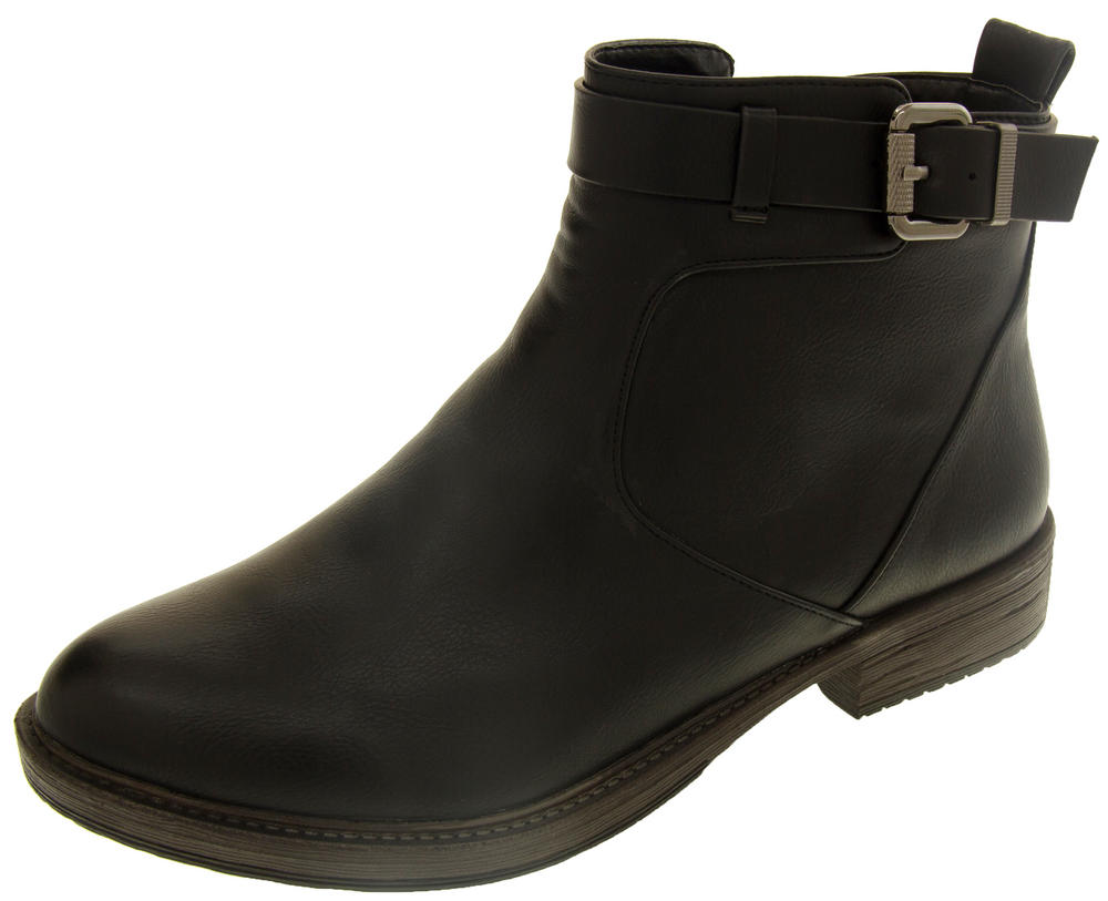 Ladies BETSY Faux Leather Ankle Boot with Zip Fastening