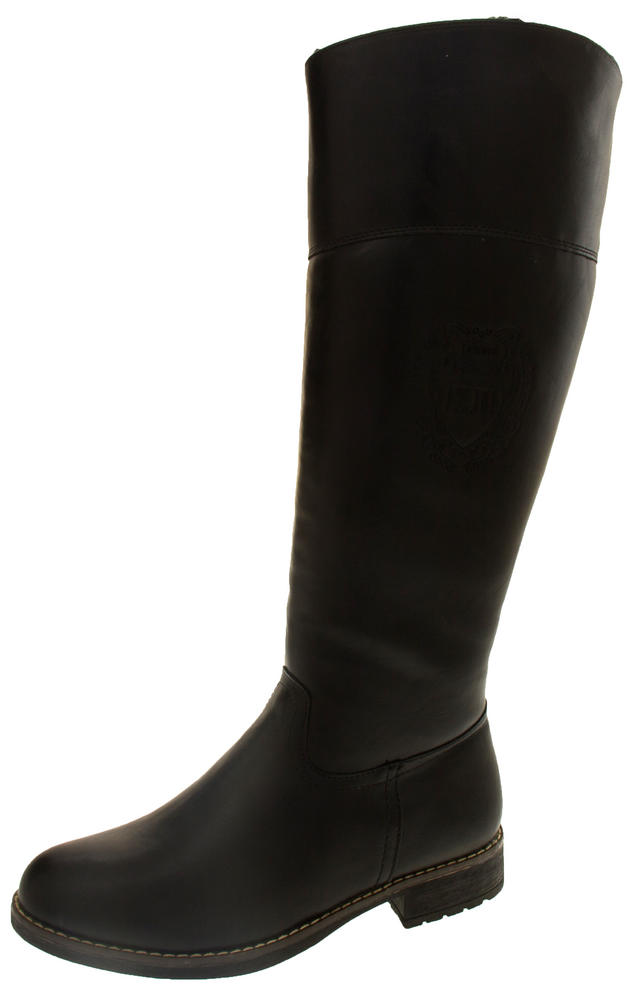 Ladies Keddo WIN-TEX Lined Faux Leather Knee High Boots