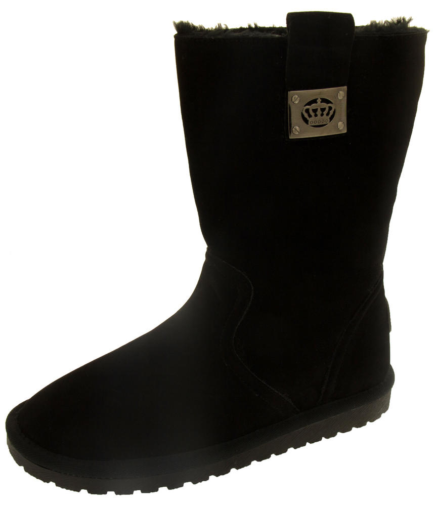 Ladies Keddo Faux Suede Fur Lined Winter Boots