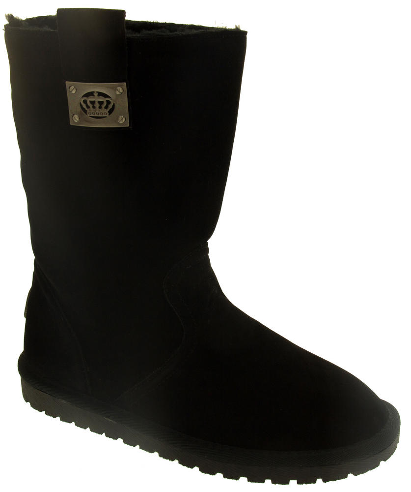 keddo faux suede fur lined winter boots womens