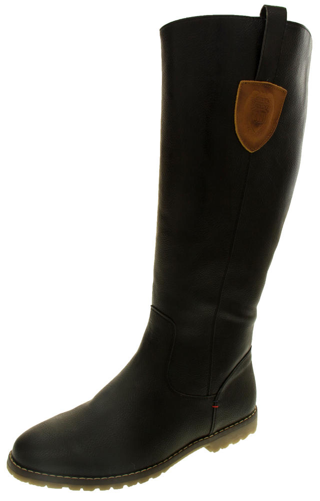 Ladies Betsy Faux Leather Calf High Winter Boots