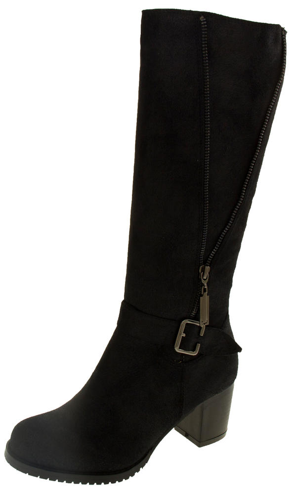 Ladies Keddo Zip and Buckle Detail Knee High Boots