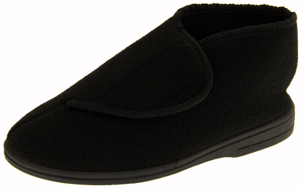 Mens Coolers Velcro Strap Orthopaedic Boot Slippers