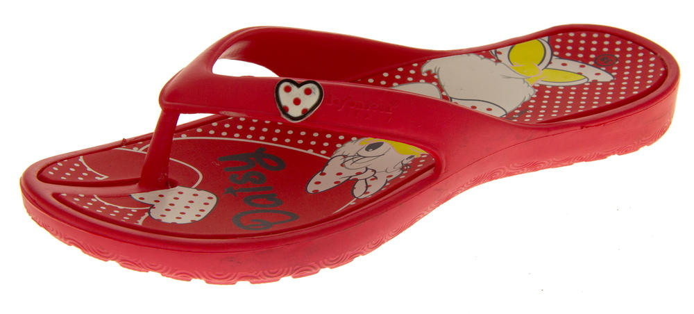 Ladies DISNEY Minnie Mouse Daisy Duck Summer Flip Flops Mule Sandals