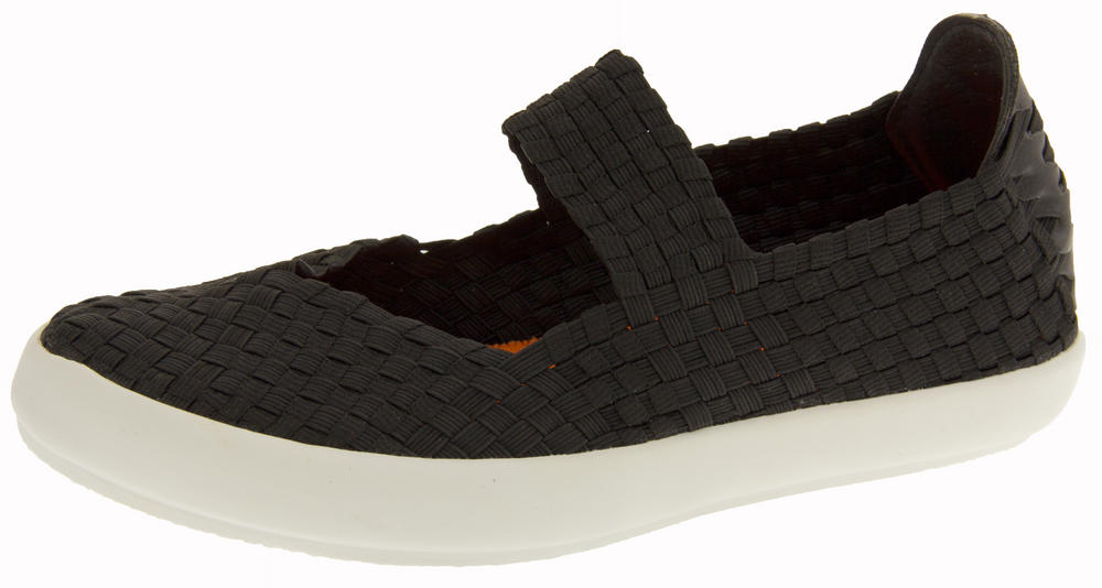 Ladies E-Weez Elastic Stretch Mary Janes Summer Shoes