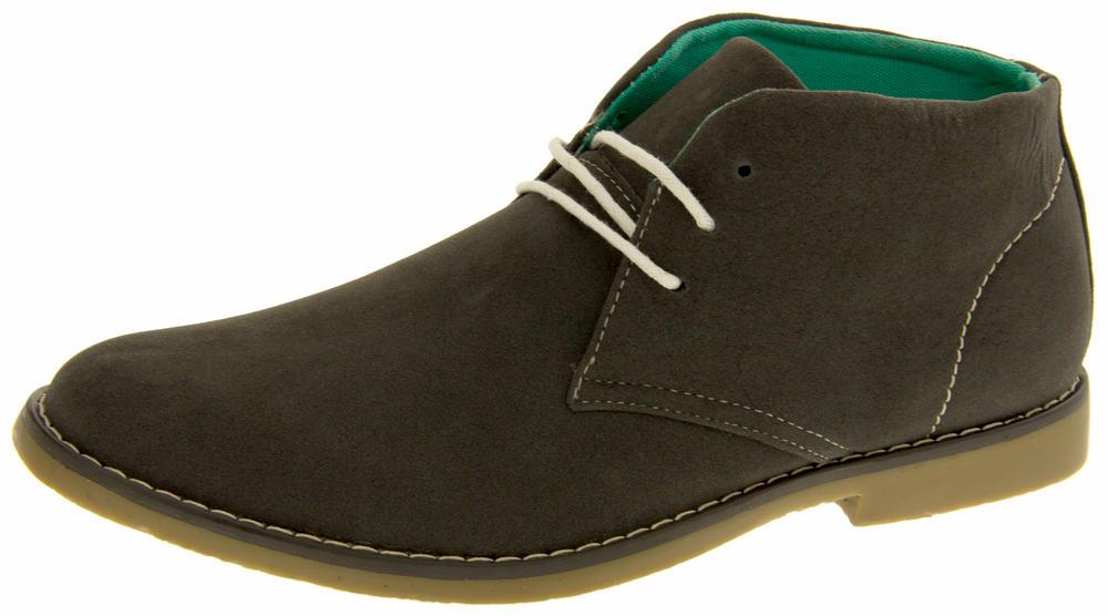 Mens Classics Hayden Faux Suede Casual Desert Boots