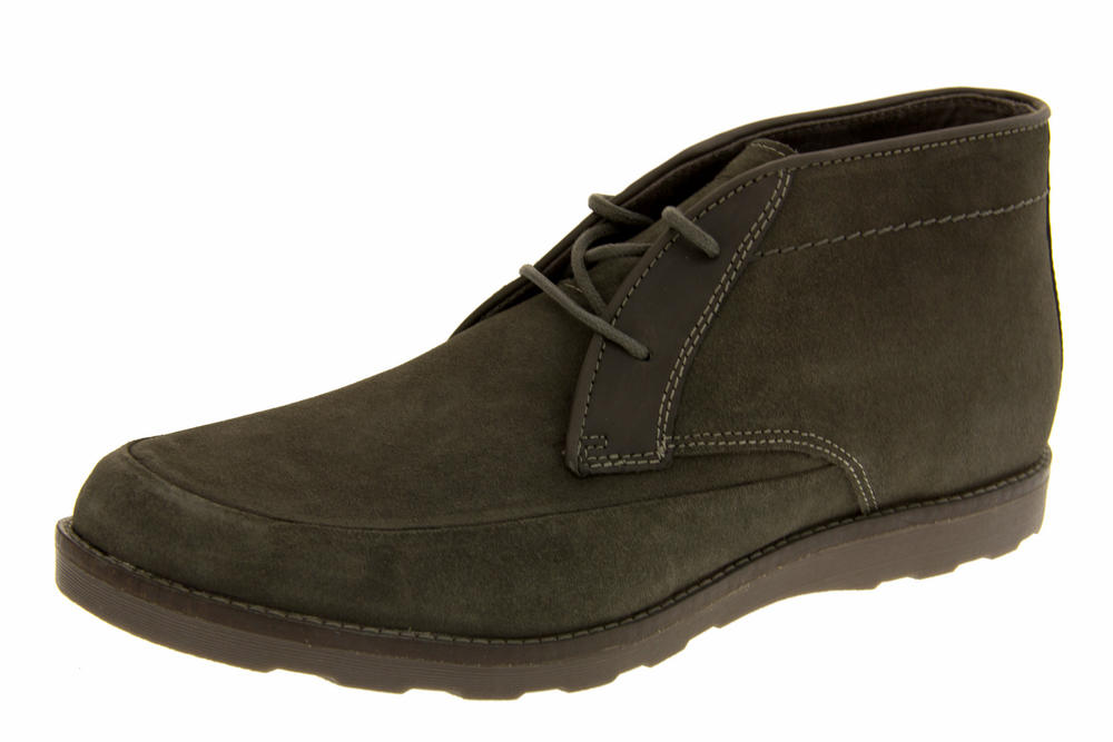 Mens Skechers Leyton Suede Leather Casual Lace Up Boot