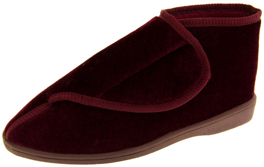 Ladies Coolers Orthopaedic Velcro Strap Boot Slippers