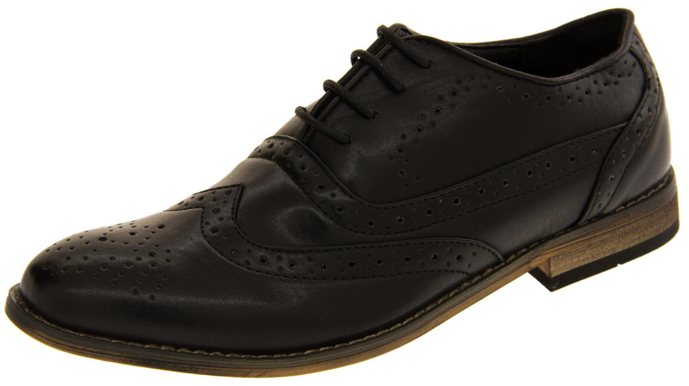 "Mens Classics ""Jack 2"" Faux Leather Formal Dress Lace Up Brogues Shoes"