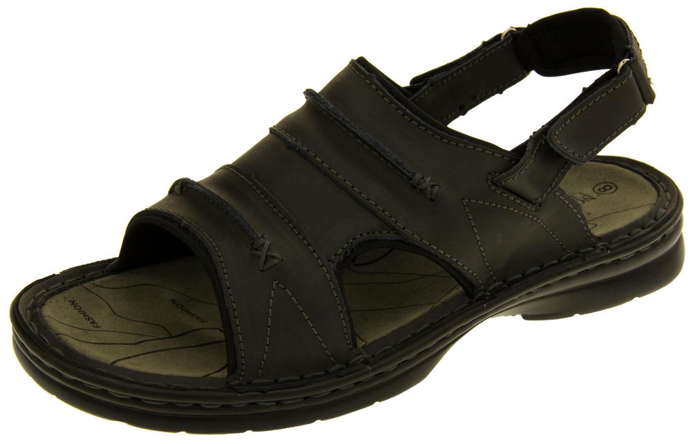 Mens Northwest Territory Savanna Real Leather Walking Sandals