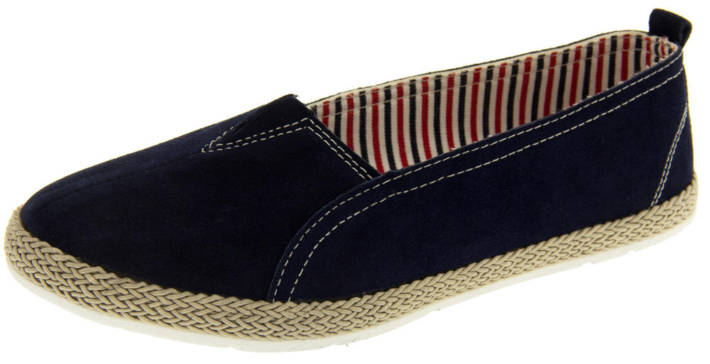 Womens Coolers HD927 Suede Leather Espadrilles Flat Summer Pumps