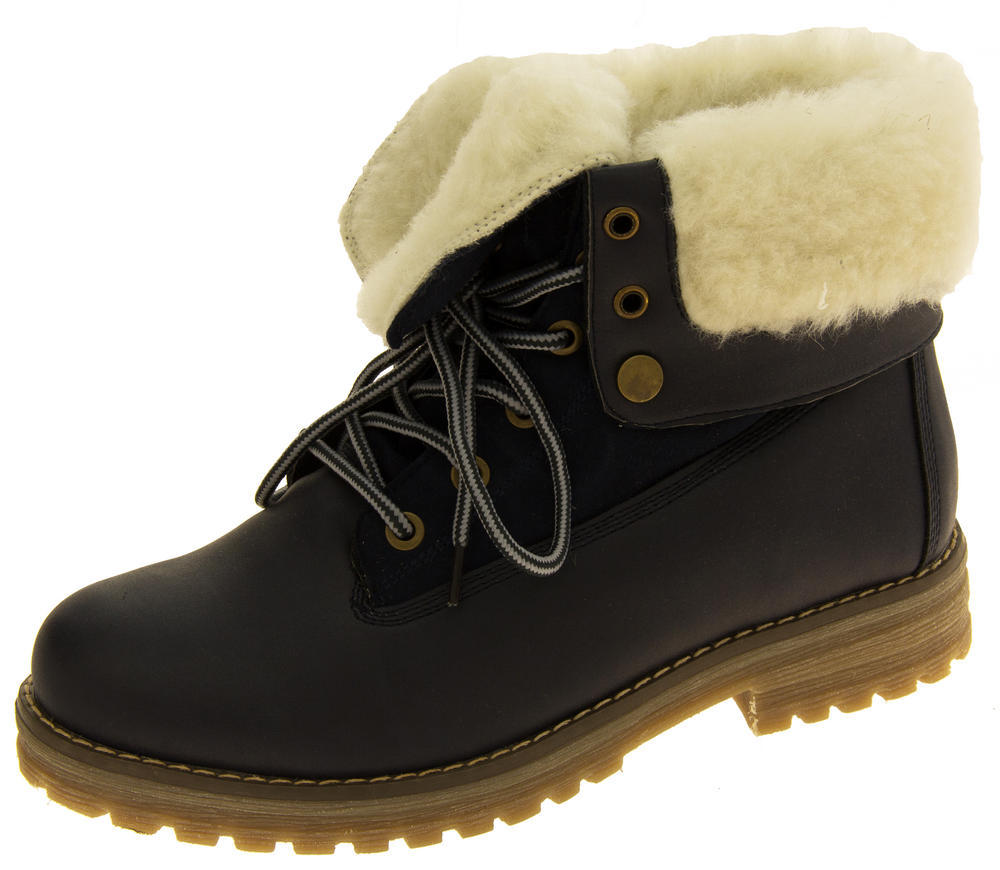 Womens KEDDO Hi Top Warm Wool Lined Ankle Boots