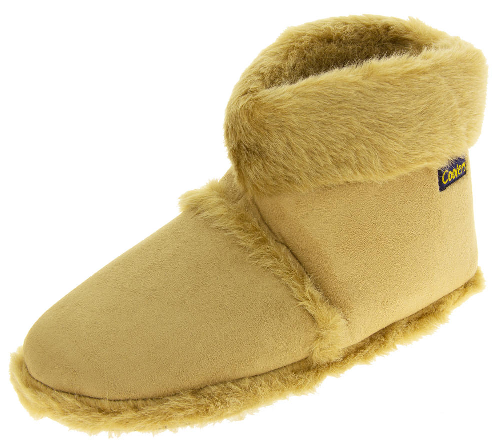 Mens 'Coolers'  Faux Fur Lined Faux Suede Boot Slippers