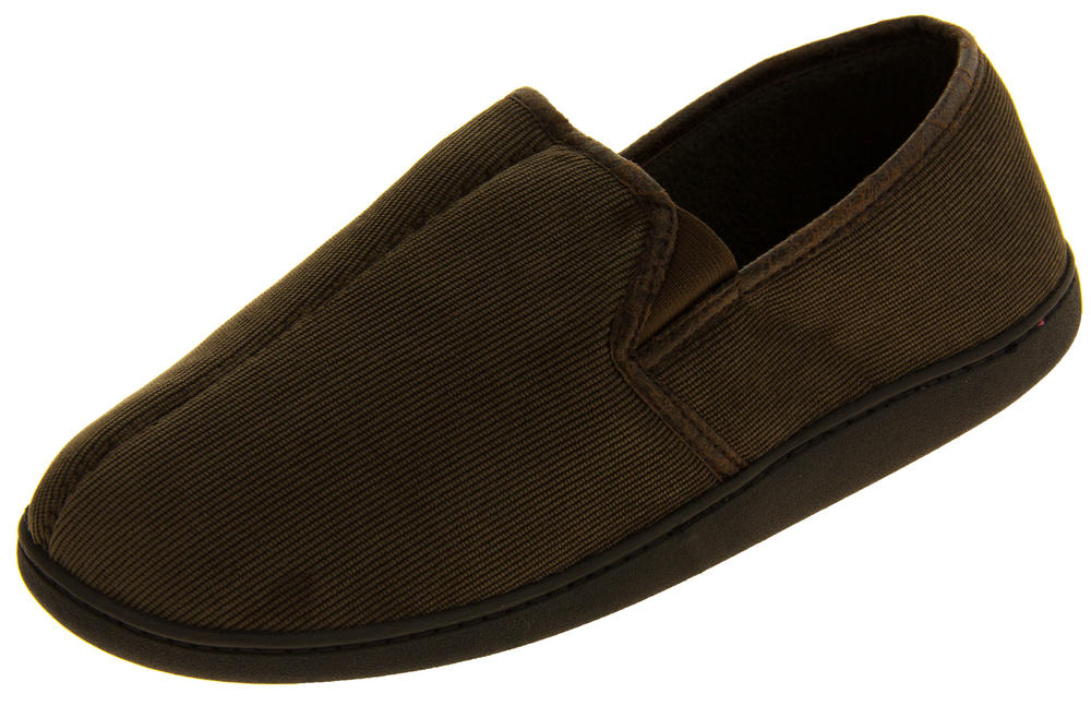 Mens 'Coolers' Fleecy Lined Cord Outdoor Sole Slippers