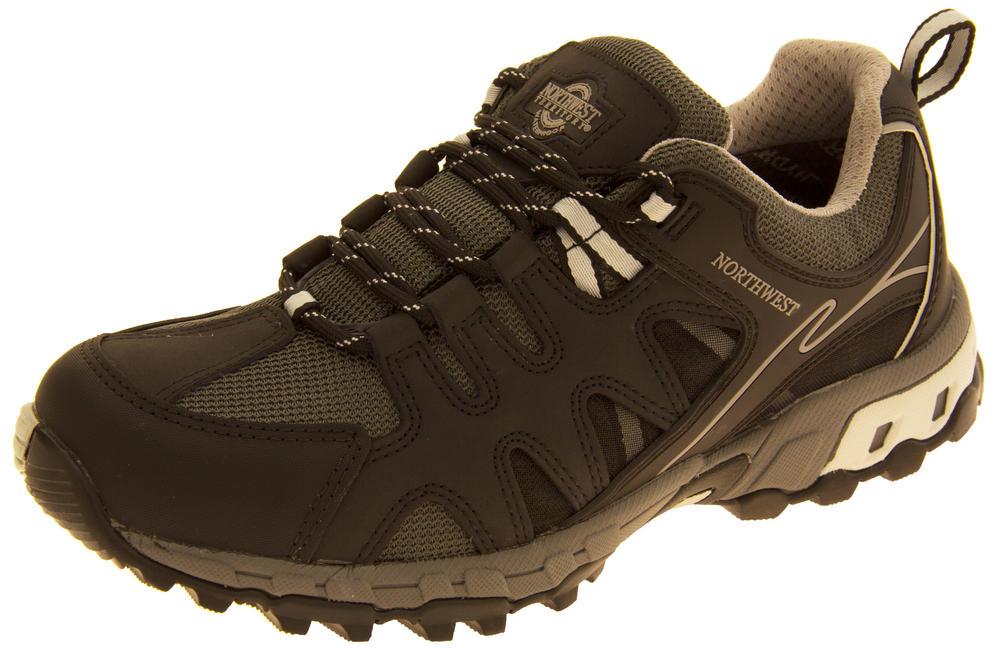 Mens Leather NORTHWEST TERRITORY Hiking Walking Waterproof Shoes
