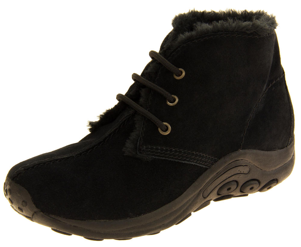 Ladies Northwest Territory LEATHER Faux Fur Lined Ankle Boots