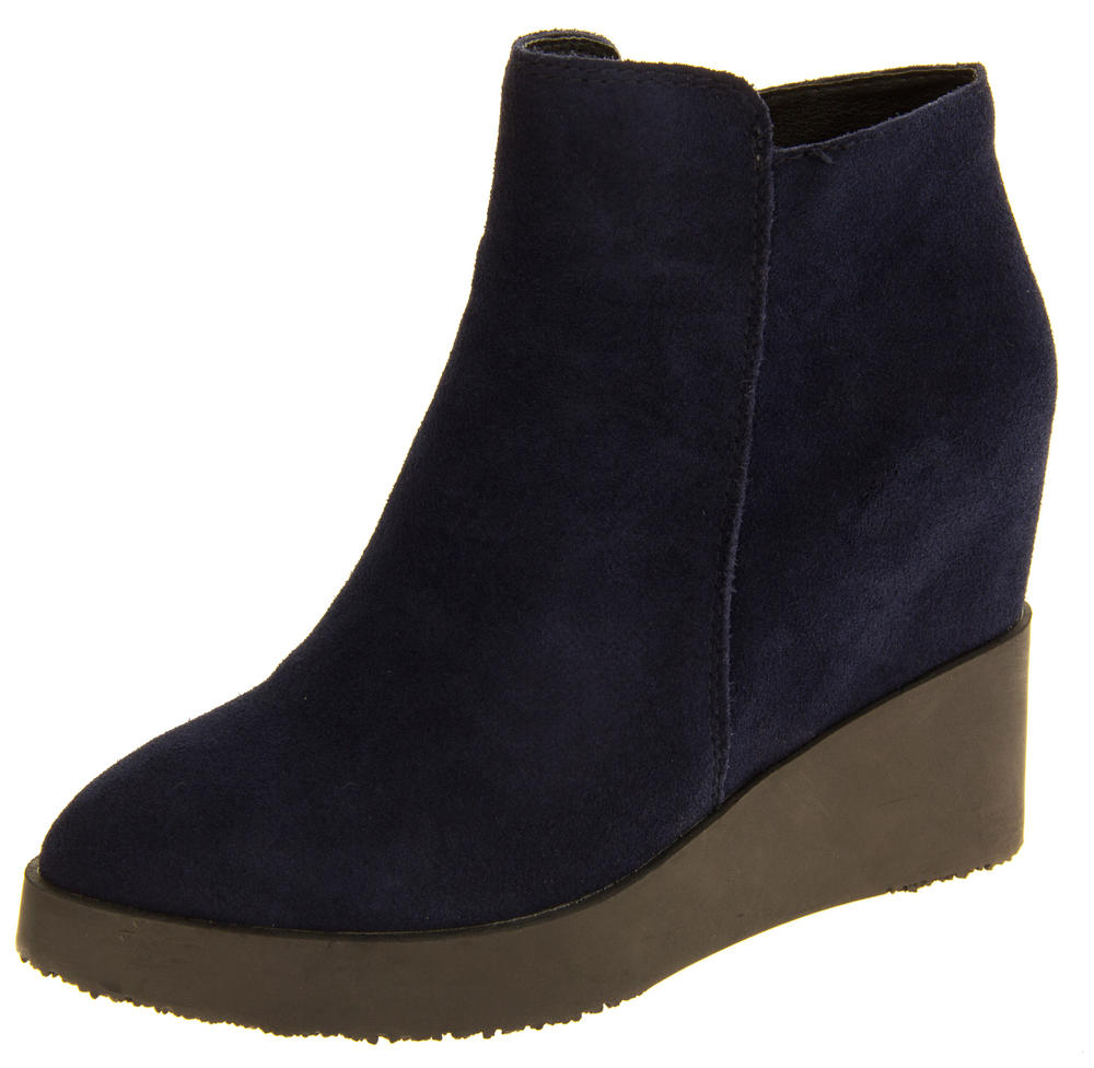 Ladies Betsy Real Suede Zip Fastening Hidden Wedge Ankle Boots