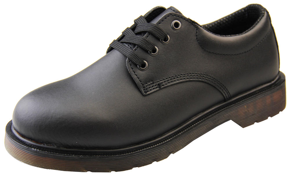 Mens Black Smooth Leather Lace Up Shoes