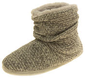 Ladies Coolers Warm Knitted Winter Fur Lined  Slipper Boots Thumbnail 1