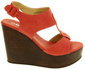 Womens BETSY T-Bar Platform Wedge Sandals Thumbnail 3