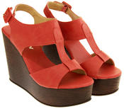 Womens BETSY T-Bar Platform Wedge Sandals Thumbnail 5