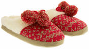 Four Seasons Womens Fur Lined Knitted Alpine Mule Slippers Thumbnail 10