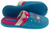 De Fonseca Girls Princess Embroidered Open Back Mule Slipper Thumbnail 4
