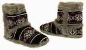 Ladies Coolers Knitted FairIsle Faux Fur Lined Slipper Boots Thumbnail 6