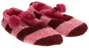 Womens Kumfipumps Striped Ballerina Slippers Ladies Knitted Dolly Shoe Slipper Thumbnail 10