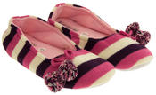 Ladies Coolers Kumfipumps Stripey Knitted Ballerina Slippers Thumbnail 5