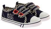 Boys De Fonseca Timotto2 Twin Velcro Strap Canvas Shoes Thumbnail 5